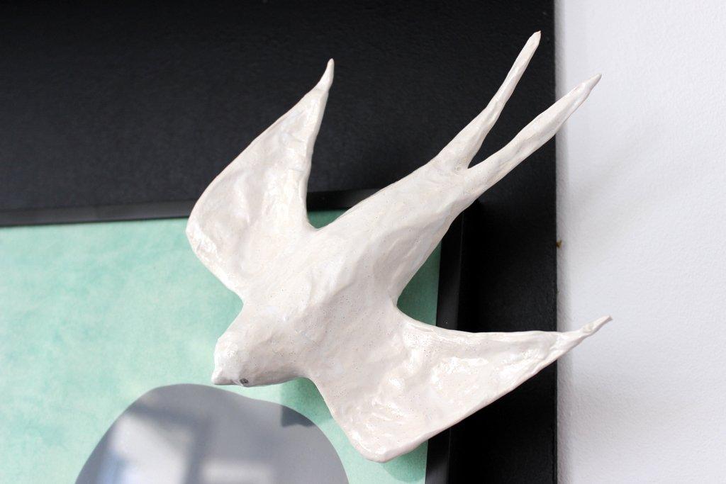 Pappenstiel-oiseau-papier mâché 3