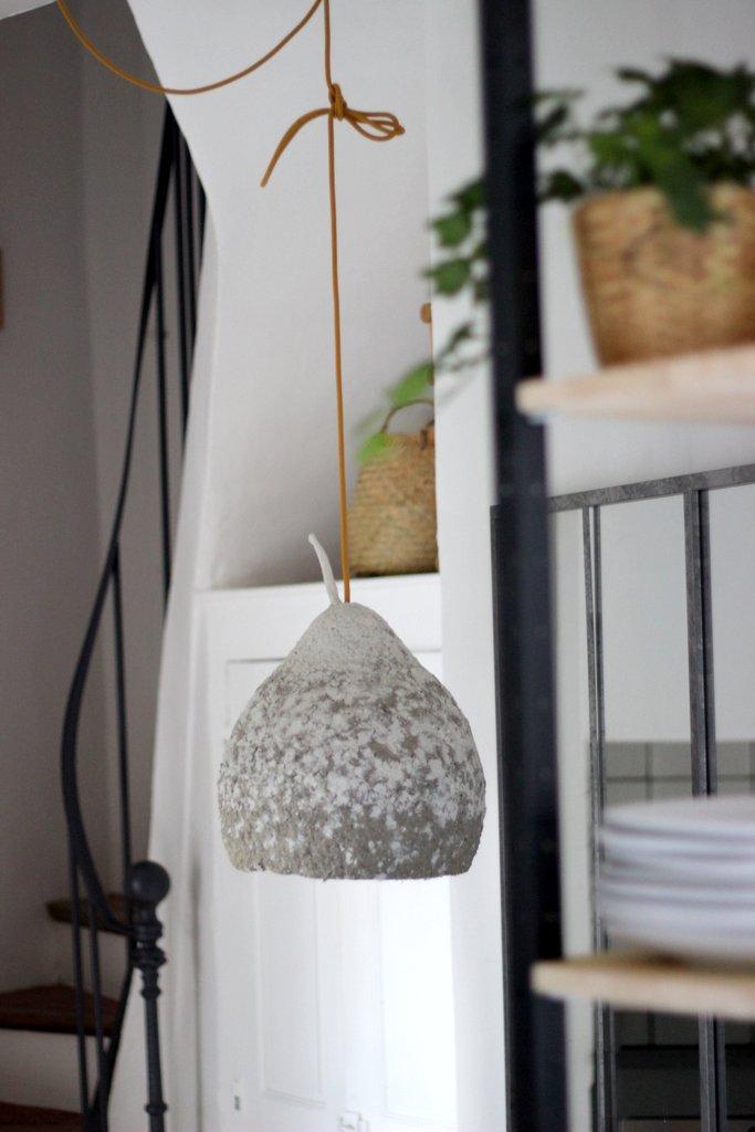 Pappenstiel - Glühbirne - Lampe aus Pappmaché