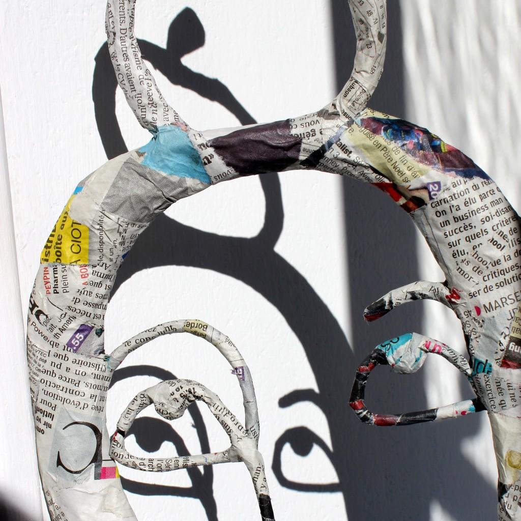 Pappelini -Skulptur Schatten